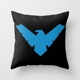 Minimal Superheroes - Nightwing Throw Pillow
