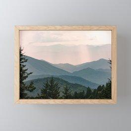 Smoky Mountain Pastel Sunset Framed Mini Art Print