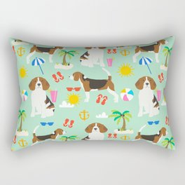 Beagle beach vacation dog breed lover beagles must haves summer gifts Rectangular Pillow