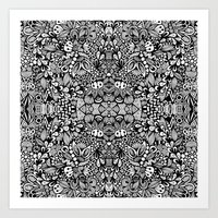zentangle Art Prints featuring Zentangle  by Zenspire Designs