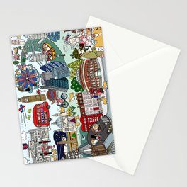 Queen's London Day Out Stationery Cards