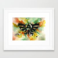 triforce Framed Art Prints featuring Triforce by Fernanda Frasson