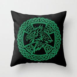 Celtic Hawk Throw Pillow