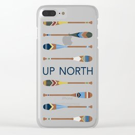 Up North Oars Clear iPhone Case
