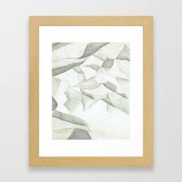 crumpled Framed Art Print