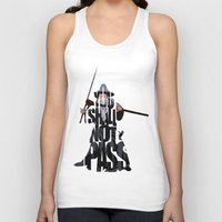 lord of the rings Tank Tops featuring Gandalf - The Lord of the Rings by Ayse Deniz