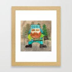 Lumberjack Attack, Modern Mr. Lumberjack Framed Art Print