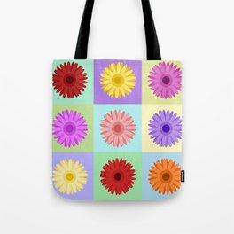 Gerbera Daisies Bright Color Design Tote Bag