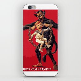 Gruss Vom Krampus Greetings From Christmas Demon iPhone Skin