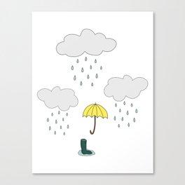 Rainy Day Pattern Canvas Print