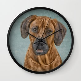Drawing Rhodesian Ridgeback Wall Clock