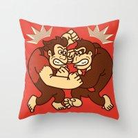wreck it ralph Throw Pillows featuring Let's Wreck it! by MeleeNinja