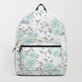 Modern . Geometric pattern . Rose .2 Backpack