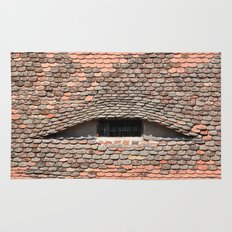 sibiu city romania traditional architecture detail roof tile eye Rug
