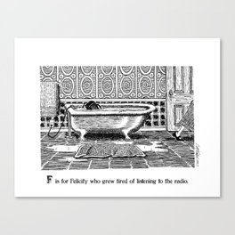 F is for Felicity Canvas Print