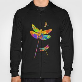 Dragonfly Watercolor Art Hoody