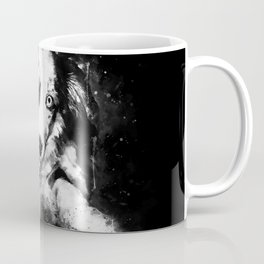 australian shepherd aussie dog puppy splatter watercolor black white Coffee Mug