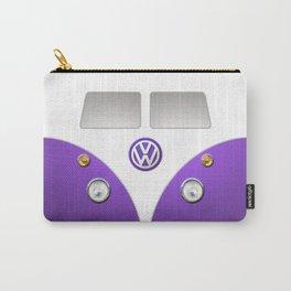 Purple VW Volkswagen Mini Van Bus Carry-All Pouch