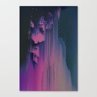 fringe Canvas Prints featuring Pink Fringe by DuckyB