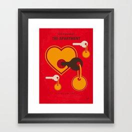 No853 My The Apartment minimal movie poster Framed Art Print