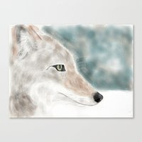 coyote Canvas Prints featuring Coyote by sub_o