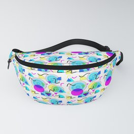 Bold Popping Colorful Retro Memphis Pattern Fanny Pack