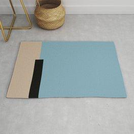 01 color block blue Rug