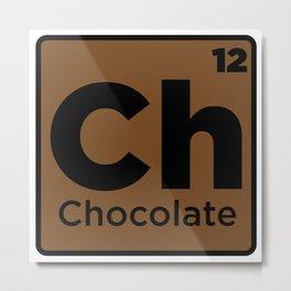 Chocolate Element Metal Print