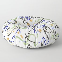 Miro fog Floor Pillow