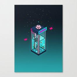Vaporwave Phonebooth Canvas Print