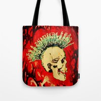 health Tote Bags featuring MENTAL HEALTH - 025 by Lazy Bones Studios
