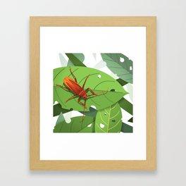 Long horned Beetle Framed Art Print