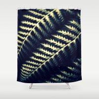 fern Shower Curtains featuring Fern by Kitsmumma