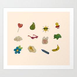 summer kiddo  Art Print