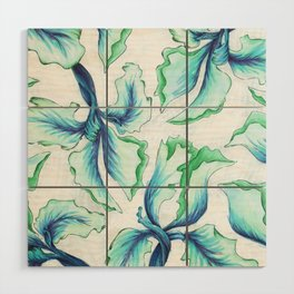 Blue Iris Wood Wall Art