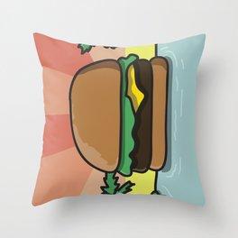 Burger Paradise Throw Pillow