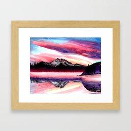 Sunset Mountain Framed Art Print