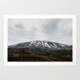 Iceland Mountains Art Print