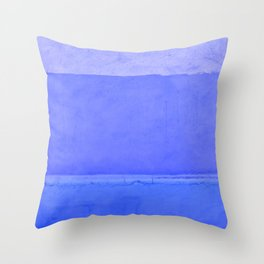 Blue City of Chefchaouen in Morocco Throw Pillow