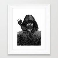 green arrow Framed Art Prints featuring Arrow by Jack Kershaw