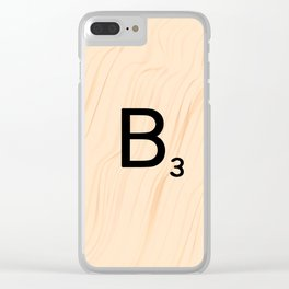 Scrabble Letter B - Large Scrabble Tiles Clear iPhone Case
