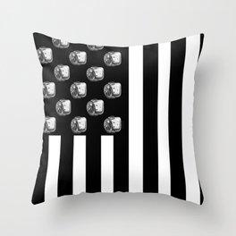 US MiniFigure Flag - Vertical Throw Pillow