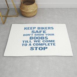 KEEP BIKERS SAFE Rug