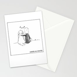 love needs no words Stationery Cards