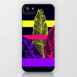 Neon Leaves #society6 #tropical iPhone Case