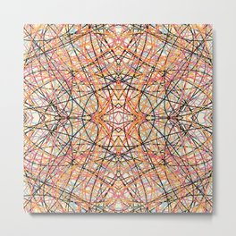 Abstract Colorful Lines Graphic Design Deco Art - Gagana Metal Print