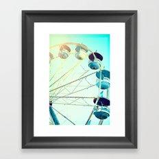 Blue Carousel Framed Art Print
