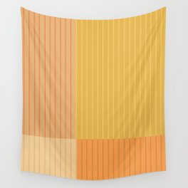 Color Block Lines IV Wall Tapestry
