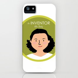 An Inventor like Hedy Lamarr iPhone Case