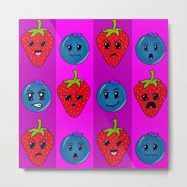 Fruit Faces Metal Print